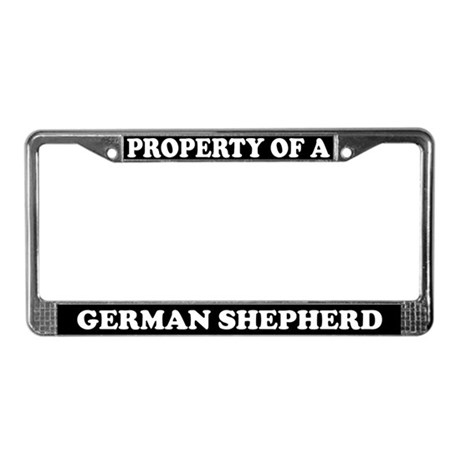 Property Of A German Shepherd License Plate Frame