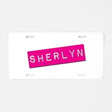 Sherlyn Punchtape Aluminum License Plate