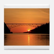 Deception Pass Bridge Tile Coaster