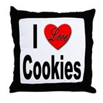 I Love Cookies Throw Pillow