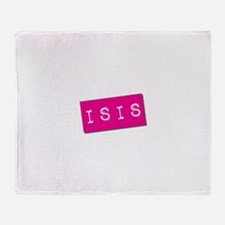 Isis Punchtape Throw Blanket