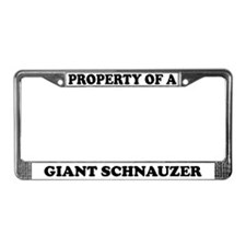 Property Of A Giant Schnauzer License Plate Frame