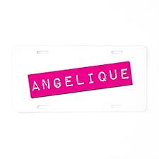 Angelique Punchtape Aluminum License Plate