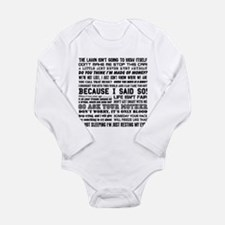 Dad-isms Long Sleeve Infant Bodysuit