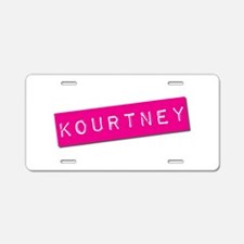 Kourtney Punchtape Aluminum License Plate