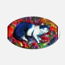 Colorful, Cat, art, 22x14 Oval Wall Peel
