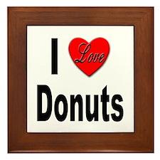 I Love Donuts Framed Tile