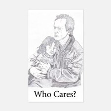 Who Cares? Rectangle Decal