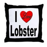 I Love Lobster Throw Pillow