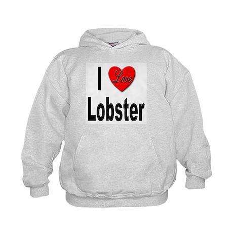 I Love Lobster Kids Hoodie