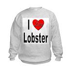 I Love Lobster (Front) Kids Sweatshirt