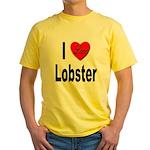 I Love Lobster Yellow T-Shirt