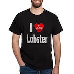 I Love Lobster (Front) Black T-Shirt