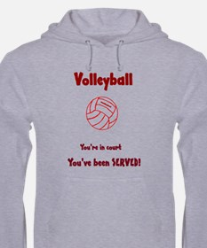 Volleyball You've been served Hoodie