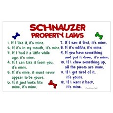 Schnauzer Property Laws 2 Poster