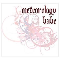 Meteorology Babe Poster