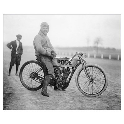 Pope Motorcycle Racer, 1915 Poster
