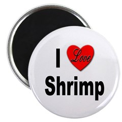"I Love Shrimp 2.25"" Magnet (10 pack)"