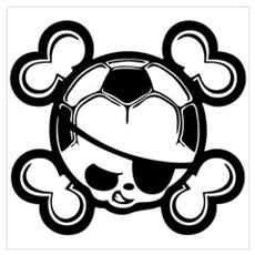 Soccer Kid Pirate Poster