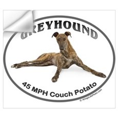 GVV Greyhound Couch Potato Wall Decal