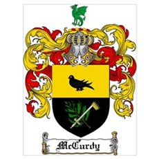 McCurdy Family Crest Poster
