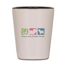 Peace, Love, Norfolk Terriers Shot Glass