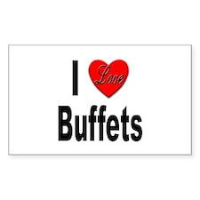 I Love Buffets Rectangle Decal