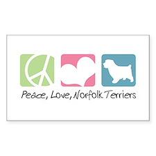 Peace, Love, Norfolk Terriers Decal