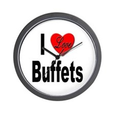 I Love Buffets Wall Clock
