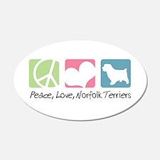 Peace, Love, Norfolk Terriers 22x14 Oval Wall Peel