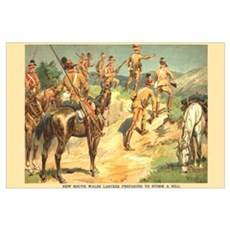 NSW Lancers Print Canvas Art