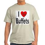 I Love Buffets (Front) Ash Grey T-Shirt