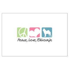 Peace, Love, Elkhounds Posters