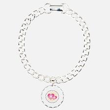 Pink Ribbon Charm Bracelet, One Charm
