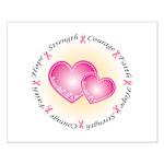Pink Ribbon Small Poster