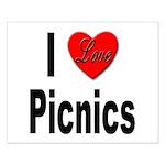 I Love Picnics Small Poster