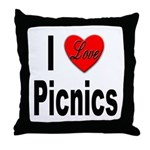 I Love Picnics Throw Pillow