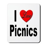 I Love Picnics Mousepad