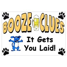 """Booze Clues: It Gets You Laid!"" Canvas Art"