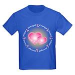 Pink Ribbon Kids Dark T-Shirt