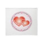 Pink Ribbon Throw Blanket