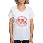 Pink Ribbon Women's V-Neck T-Shirt
