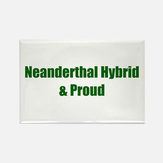Neanderthal Hybrid & Proud Rectangle Magnet