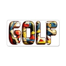 GOLF Aluminum License Plate
