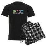 Peace, Love, Norwich Terriers Men's Dark Pajamas