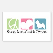 Peace, Love, Norwich Terriers Decal