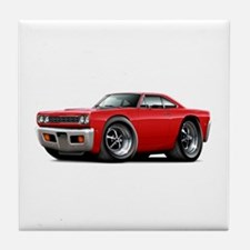 1968 Roadrunner Red Car Tile Coaster