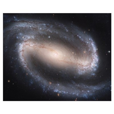 Barred Spiral Galaxy Canvas Art
