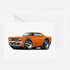 1968 Roadrunner Orange Car Greeting Card