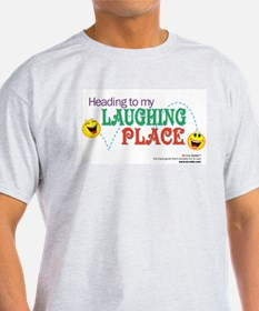 """Laughing Place"" Ash Grey T-Shirt"